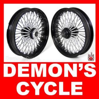 18 18 Wheels Fat Mammoth 48 Spokes Black Fit Harley Fatboy Softail