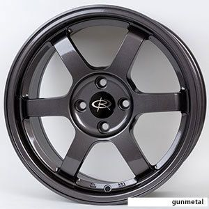 17x8 Rota Grid Wheels 5x114 3 Rim ET35MM Gun Metal Fit 5 Lug Civic
