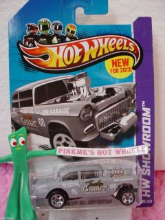 Case B 2013 Hot Wheels 55 CHEVY BEL AIR GASSER #190 US★Gray★Holst