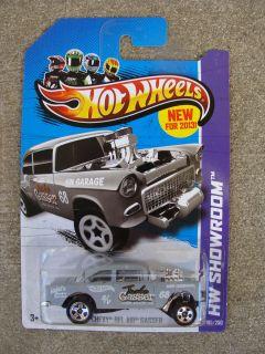 2013 Hot Wheels HW Showroom 55 Chevy Bel Air Gasser Gray
