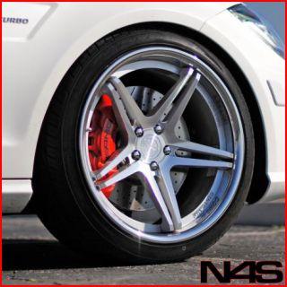 E320 E350 E500 E55 Vertini Monaco Concave Silver Wheels Rims