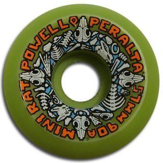 Powell Peralta Mini Rats Skateboard Wheels 57mm 90A Green