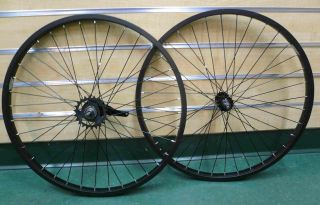Beach Cruiser Bike 24 x1 75 Rear Front Wheels Rims Coaster Brake Black