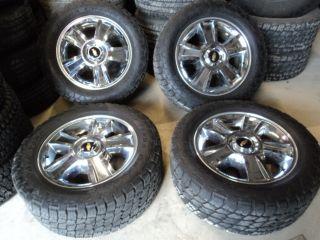 Factory 20 Chevy 1500 Chrome Wheels 6x5 5 285 55R20 Nitto Terra