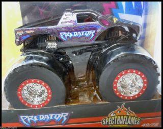 Hot Wheels Monster Jam Truck Predator 49 75 Spectraflames Flag Series