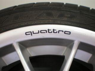 4X Wheels Rims Stickers Quattro TT A4 A5 A6 A7 A8 s Line S3 S4