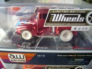 Auto World AW Rel 1 4 Gear iWheels 56 Ford Pickup HO Slot Car Fits AFX