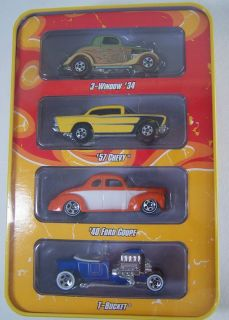 NIP Tin Hot Wheels Since 68 1968 Hot Rods 1 of 1 4 pack die cast cars
