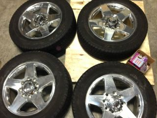 20 GMC Sierra Denali HD 8 Lug Wheels and Goodyear Tires 265 60R20