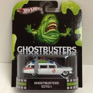 GHOSTBUSTERS ECTO 1 2013 RETRO Hot Wheels 1 64 Scale Die Cast Car