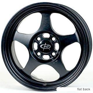 SI EM1 EP3 Rota Slipstream Wheels Rims 16x7 40 4x100 Flat Black