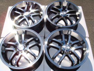 4x114 3 Polished 4 Lug Wheels Prelude Civic Integra Accord Alloy Rims