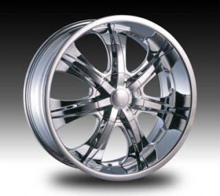 20 inch Velocity V725 Chrome New Wheels Tires Fit 300 Magnum
