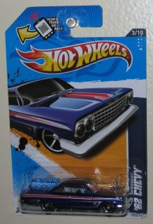 HOT WHEELS ★ MUSCLE MANIA   GM ★ 62 CHEVY IMPALA SS 409
