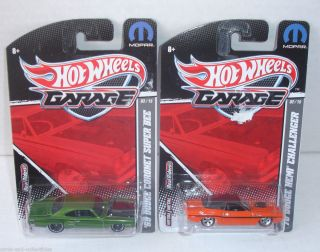 Hot Wheels Garage 70 Dodge Hemi Challenger 69 Coronet Super Bee Car
