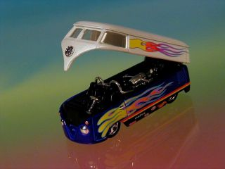Hot Wheels Volkswagen Custom Drag Bus Limited Edition VW Blue 1 64