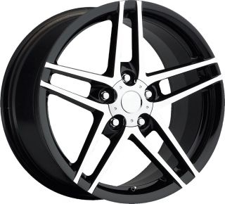 Machine Face Fits C6 Z06 and Grand Sport Corvette Wheels Rims