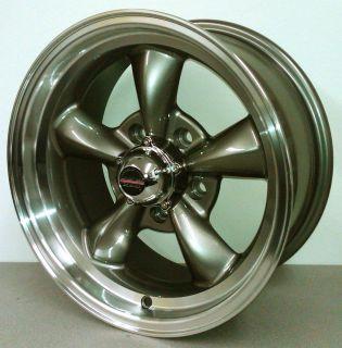 Thrust Style Gray Wheels 15x7 15x8 Ford Chevy 15 Musclecar Rim