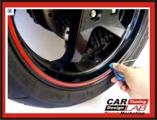 Red Reflective Car Motorcycle Wheel Rim Pin Stripe Pinstriping