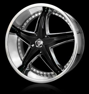 20 Diablo Reflection Black Rims Wheels 20x7 5 42 5x105 Chevy Cruz