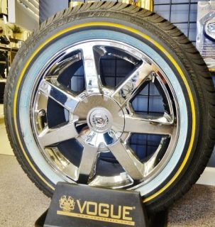 Cadillac Chromed Factory 17 Wheels 235 55R17 Vogue Tyres