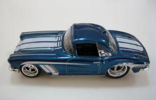 Hot Wheels 1962 62 CORVETTE 2013 SUPER SECRET TREASURE HUNT Blue w RR