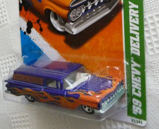 2011 Hot Wheels Treasure Hunt 59 Chevy Delivery 15 15 65 244 1959