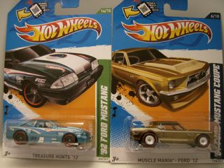 Hot Wheels 2012 Super Treasure Hunt 67 Ford Mustang Reg 92 Mustang T