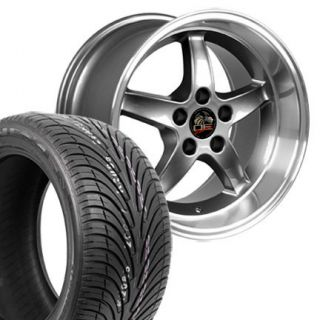 Gunmetal Cobra R Wheels Nexen Tires Rims Fit Mustang 94 04