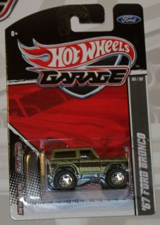 VHTF 2011 Hot Wheels Garage 67 Ford Bronco  Exclusive 30 Car