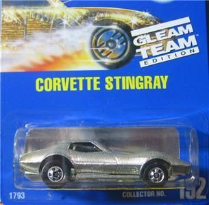 Hot Wheels Blue Card Gleam Team Corvette Stingray 192