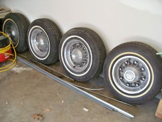 1962 63 64 PONTIAC Grand Prix Bonneville Catalina 8 LUGS RIMS TIRES w