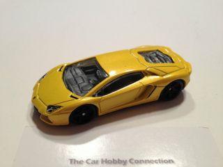 Hot Wheels Yellow Lamborghini Aventador LP700 4 Diecast Scale 1 64