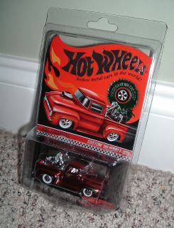 RARE Hot Wheels RLC Christmas Holiday Car Custom 56 Ford F 100 w Cycle