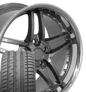 17x9 5 18x10 5 Gunmtl Z06 Wheels Rims Tires Fit Camaro