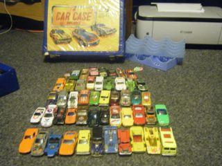 50 Cars Hot Wheels Lot Matchbox Car Case Deluxe Redline 80s 60s 70s