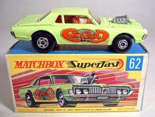Superfast No 62B Rad Rod Dragster 5 Spoke Wheels