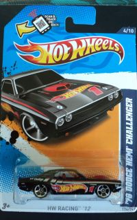 Hot Wheels 70 Dodge Hemi Challenger Very RARE Black 2012