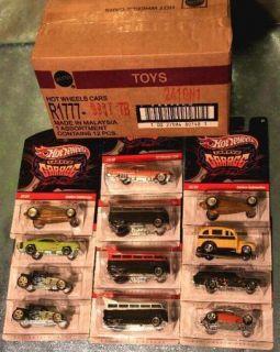 Hotwheels Larrys Garage SEALED T Case w All 3 T1 Drag Buses