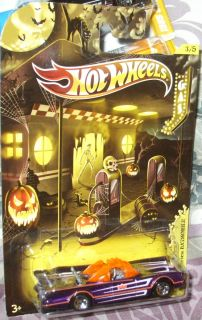 2012 Hot Wheels 3 5 Halloween Specials 66 TV Batmobile Purple Orange