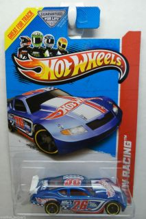 2013 HOT WHEELS 1 64 RACING TRACK ACES CIRCLE TRACKER NASCAR 122 BLUE