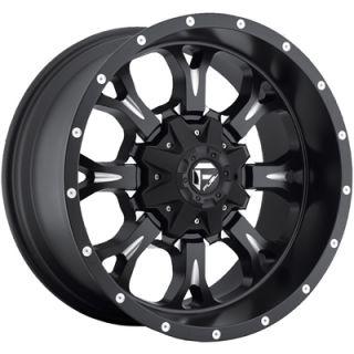 20x10 Black Fuel Krank Wheels 8x170 Rims