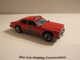 Hot Wheels 1977 Fire Chief Hong Kong Diecast 1 64 Scale Red
