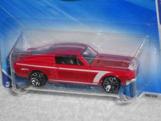 Hot Wheels 2010 Nightburnerz Series 7 10 67 Custom Mustang Red