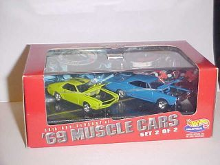 Hot Wheels 2 Car Set 30th Anniversary 69 Muscle Cars Set 2 of 2 1998