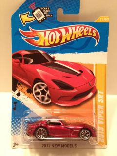 Hot Wheels 2012 New Models Dodge Viper SRT 2012 Red Scale 1 64 Diecast