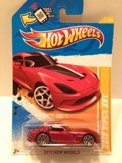 Hot Wheels 2012 New Models Dodge Viper SRT 2012 Red Scale 1 64 Diecast