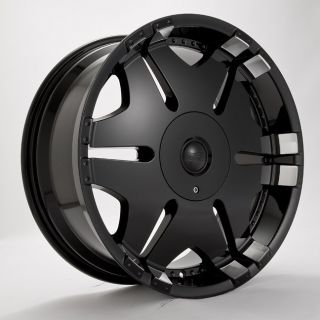 22 Player 902 Black Wheels Rims Tires Package 5x114 3 5x120 65