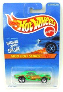 1995 Hot Wheels Mod Bod Series 67 Camaro 4 4 Chevy 399 Green