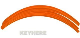 Orange Reflective Car Motorcycle Rim Stripe Wheel Tape Decal Stickers